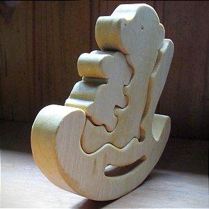 Vovó urso de madeira
