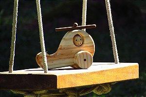 Helicoptero de madeira