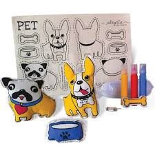 Cachorro de pano para pintar - Pets