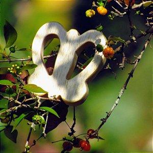 Mordedor de madeira - borboleta
