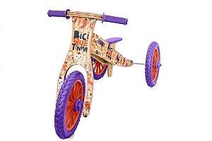 Triciclo 2 em 1 Biciquetinha Animais