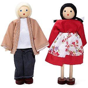 Bonecos de madeira (Kit Adultos)