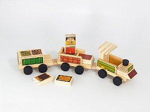 Toy Arte - Trem de madeira