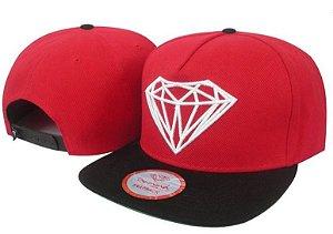 Boné Diamond Supply Vermelho e Preto