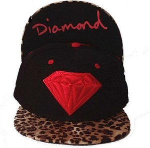 Boné Diamond Supply Leopard Preto