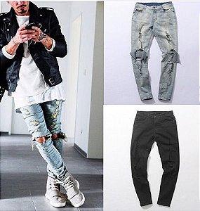 Calça Jeans Masculina - DESTROYED