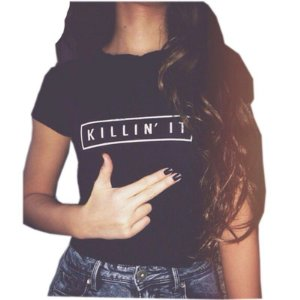 Camiseta KILLIN' IT Feminina ( Diversas Cores )
