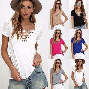 Camisetas Lace Feminina ( Diversas Cores )