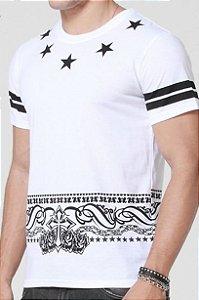 Camiseta Bandana Star Masculina ( Diversas Cores )
