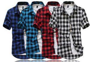Camisa Curta Xadrez Masculina - Diversas Cores