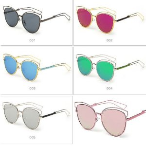 Óculos Feminino Eyelashes - Diversas Cores