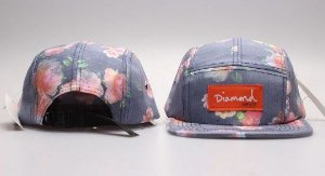 Boné 5 Panel Diamond - Flower Greener Royal