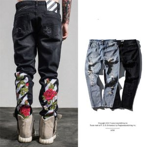 Calça Jeans Masculina - WTFLOWER Destroyed
