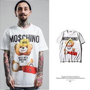 Camiseta Masculina - MO$CHINO WHT