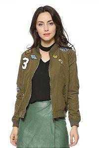 Jaqueta Bomber Military - Feminina