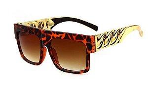 Óculos Kim Kardashian - Leopard com Dourado