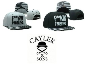 Bonés - F**KIN PROBLEMS ( Black And White ) - CAYLER & SONS