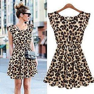 Vestido - Leopard Feminino
