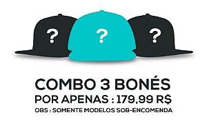 COMBO 3 BONÉS - TODO O SITE