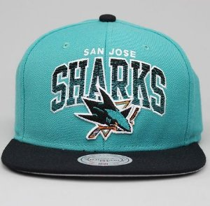 Boné Mitchell & Ness San Jose Sharks - Verde/Preto (Pronta Entrega)