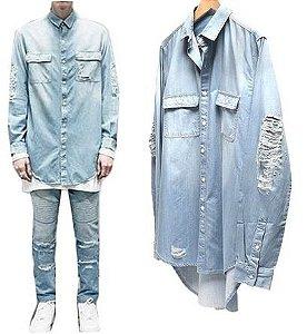 Camisa Jeans STYLISH - Unissex