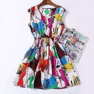 Vestido Estampado Colorido