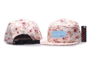 Boné 5 Panel Diamond Supply - Floral Rosa