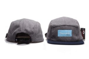 Boné 5 Panel Diamond Supply - Cinza / Azul