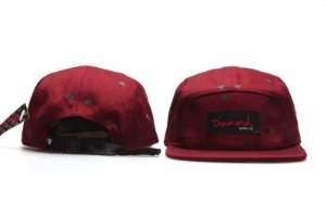Boné 5 Panel Diamond Supply - Vinho / Preto