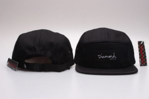 Boné 5 Panel Diamond Supply - Preto