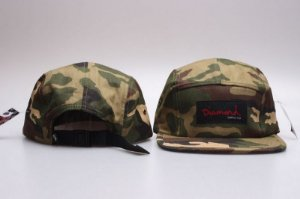 Boné 5 Panel Diamond Supply - Camo