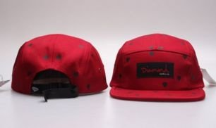 Boné 5 PANEL - Diamond SUPPLY RED-LO