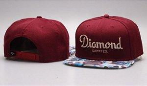 Boné Diamond Supply CO. - Bordo CLASSIC