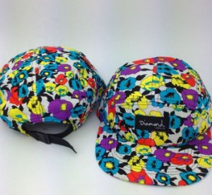 Boné Diamond Flower #2 - 5 PANEL