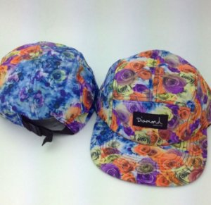Boné Diamond Flower #V - 5 PANEL