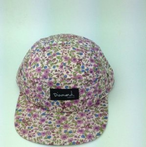 Boné Diamond Floral Simple #3 - 5 PANEL