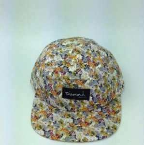 Boné Diamond Floral Simple #4 - 5 PANEL