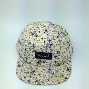 Boné Diamond Floral Simple #V - 5 PANEL