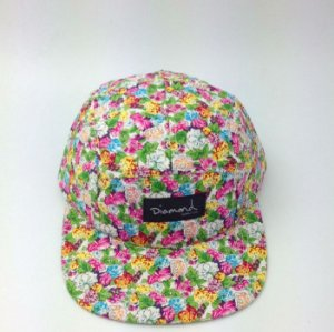 Boné Diamond Floral Simple #6 - 5 PANEL