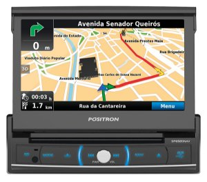 Dvd Player Retrátil 7 Pósitron Sp6920 Nav Gps Dtv Mirror