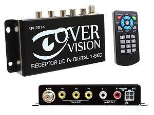 Receptor TV Digital OneSeg único c/3 saídas Automotivo