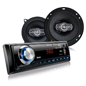 "Kit Multilaser AU951 MP3 Player Alto Falantes 6"" e 5"""