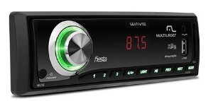 Som Automotivo Multilaser Wave Fiesta LED Rádio FM USB