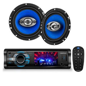 Kit Dvd Automotivo Pósitron Sp4330BT+  Par Alto Falante 6""