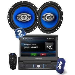 "Kit DVD Player Pósitron SP6320BT+  Alto Falante 6x9"""