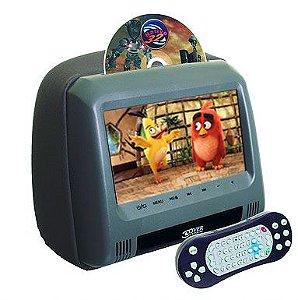 """Tela DVD Encosto c/ tela de 7""""  modelo Master,  com GAMES - cor Grafite"""