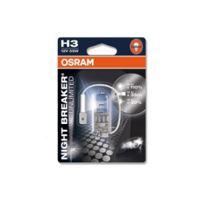 Lâmpada Osram H3 12V 55W Night Breaker Plus