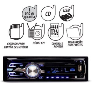 Cd Player Dazz Mp3 BT