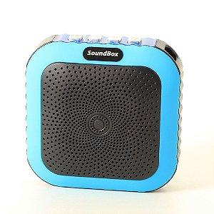 Caixa Acústica Bluetooth V4 Portátil com mosquetão - Azul