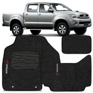 Tapete Carpete Perso Flash Hilux CD até 12 Grafite 5 Pçs